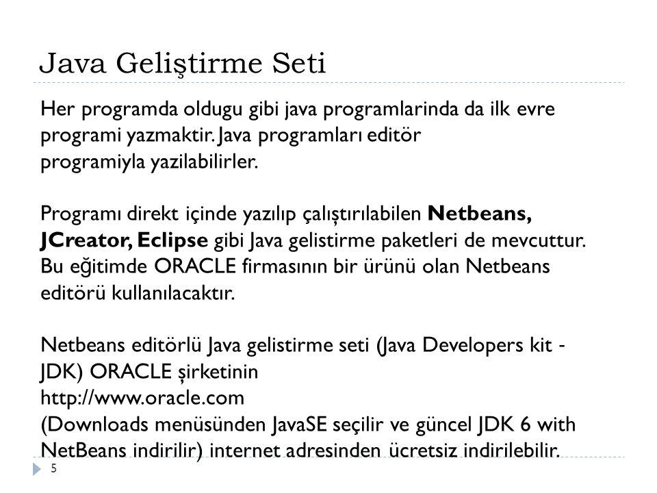 6 Java Programının Çalıştırılması Derleyici ve Yorumlayıcı ile İ lgili Kavramları bilir
