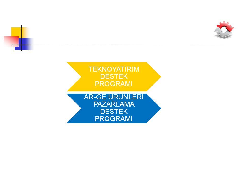 TEKNOYATIRIM DESTEK PROGRAMI AR-GE ÜRÜNLERİ PAZARLAMA DESTEK PROGRAMI