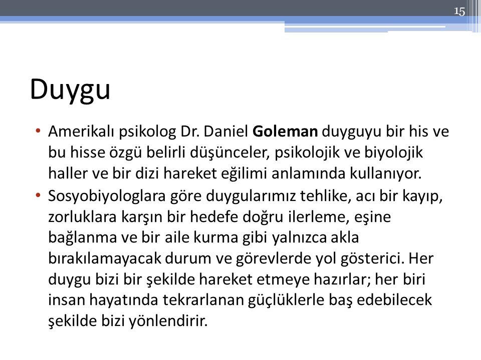 Duygu Amerikalı psikolog Dr.