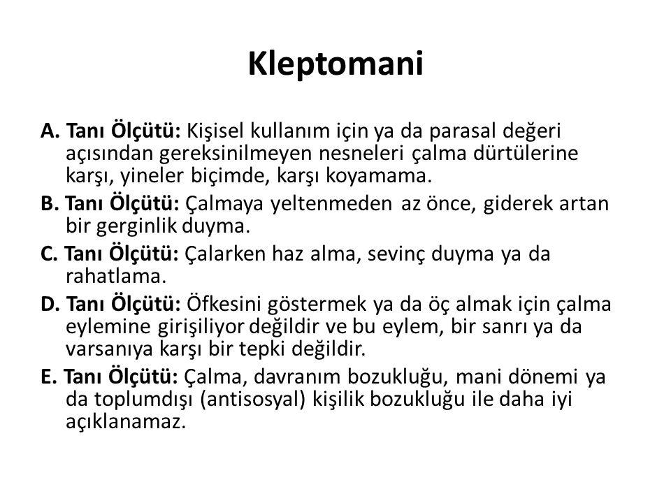 Kleptomani A.