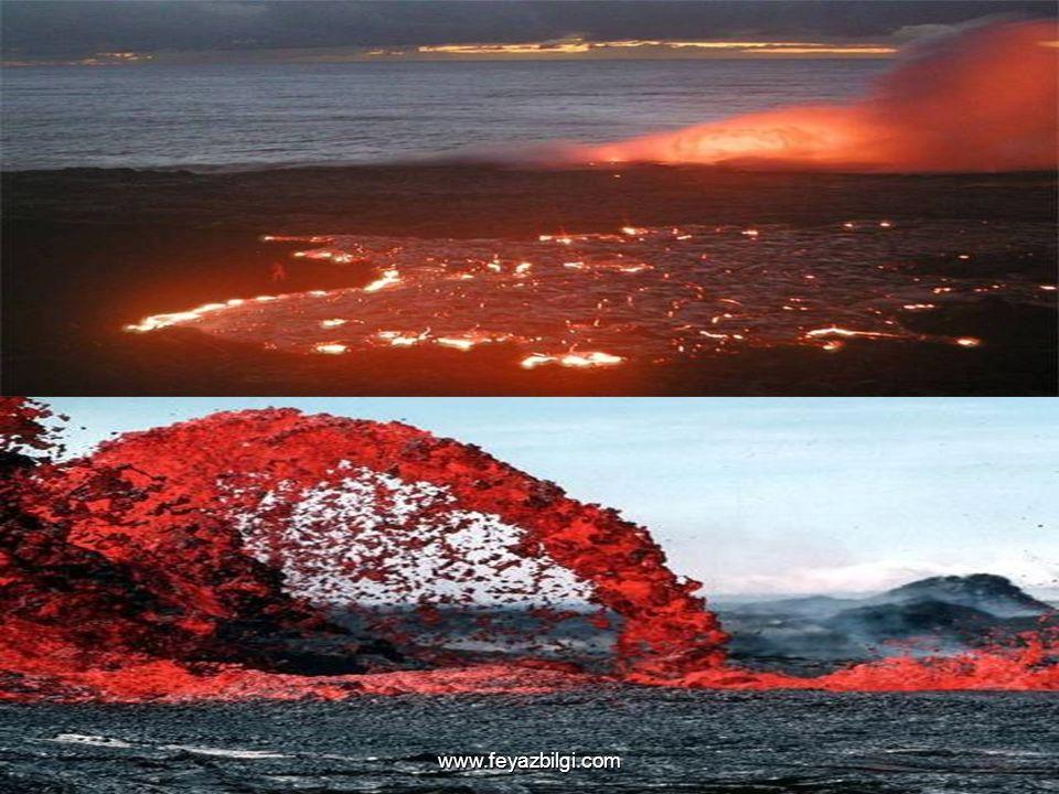 Volkanik Olaylar Volkanik patlamalar esnasında; yeraltından yeryüzüne çok miktarda malzeme taşınmakta, duman ve küller atmosfere gelen güneş ışınların
