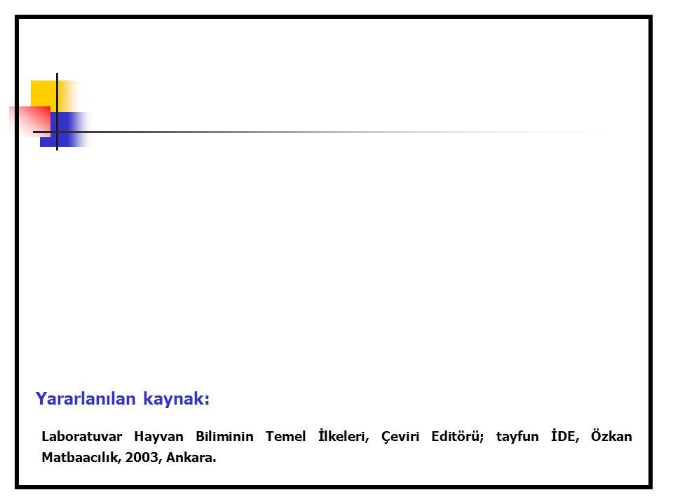Laboratuvar Hayvan Biliminin Temel İlkeleri, Çeviri Editörü; tayfun İDE, Özkan Matbaacılık, 2003, Ankara.