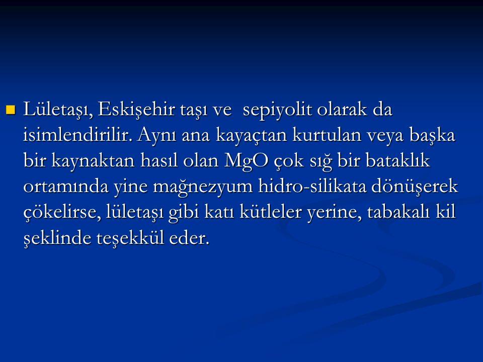 Lületaşı, Eskişehir taşı ve sepiyolit olarak da isimlendirilir.
