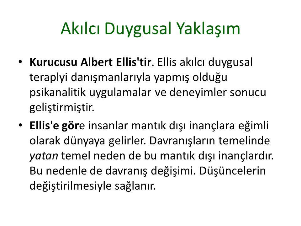 Akılcı Duygusal Yaklaşım Kurucusu Albert Ellis tir.