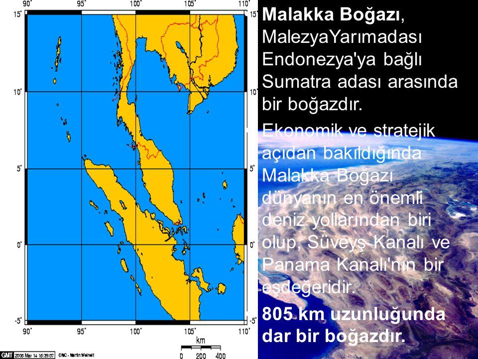 Malakka Boğazı, MalezyaYarımadası Endonezya'ya bağlı Sumatra adası arasında bir boğazdır. Ekonomik ve stratejik açıdan bakıldığında Malakka Boğazı dün