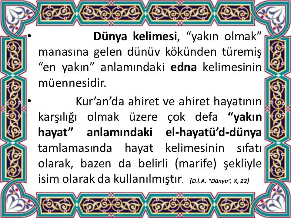 Kur'an'a Göre Ahireti Engellemeyen Dünya Hayatı Meşrudur: Allah her iki alem için de dua etmemizi ister ve bunu öğretir.