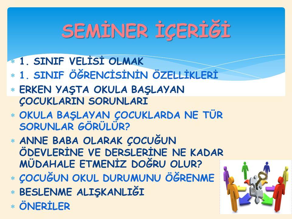  1. SINIF VELİSİ OLMAK  1.