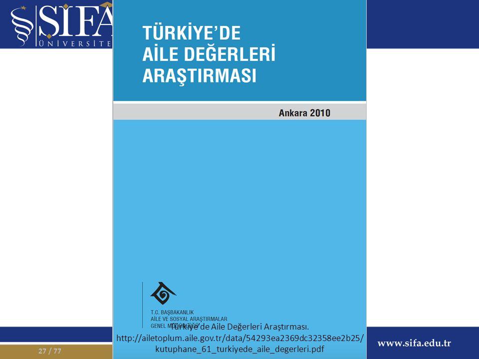 / 7727 Türkiye'de Aile Değerleri Araştırması.