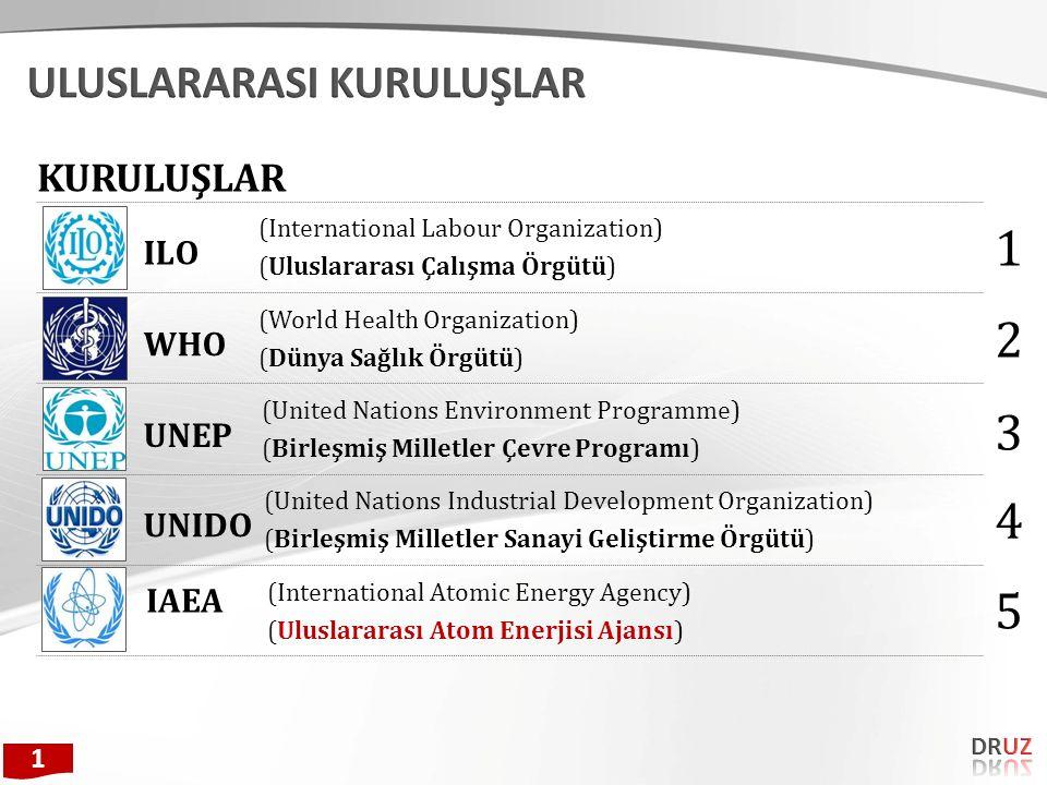 (United Nations Development Programme) (Birleşmiş Milletler Kalkınma Programı) (European Agency for Safety and Health at Work) (Avrupa Birliği - İş Sağlığı ve Güvenliği Ajansı) UNDP EU-OSHA ISO (International Organization for Standardization) (Uluslararası Standardizasyon Örgütü) 6 7 8 NIOSH (The National Institute for Occupational Safety and Health) (Ulusal İş Sağlığı ve Güvenliği Enstitüsü) 9 ISSA 10 (Information System Security Association) (Bilgi Güvenliği Risk Yönetimi ) 1