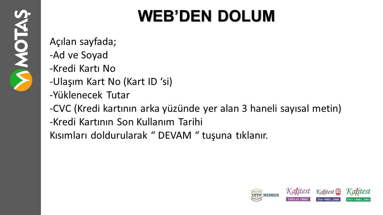WEB'DEN DOLUM