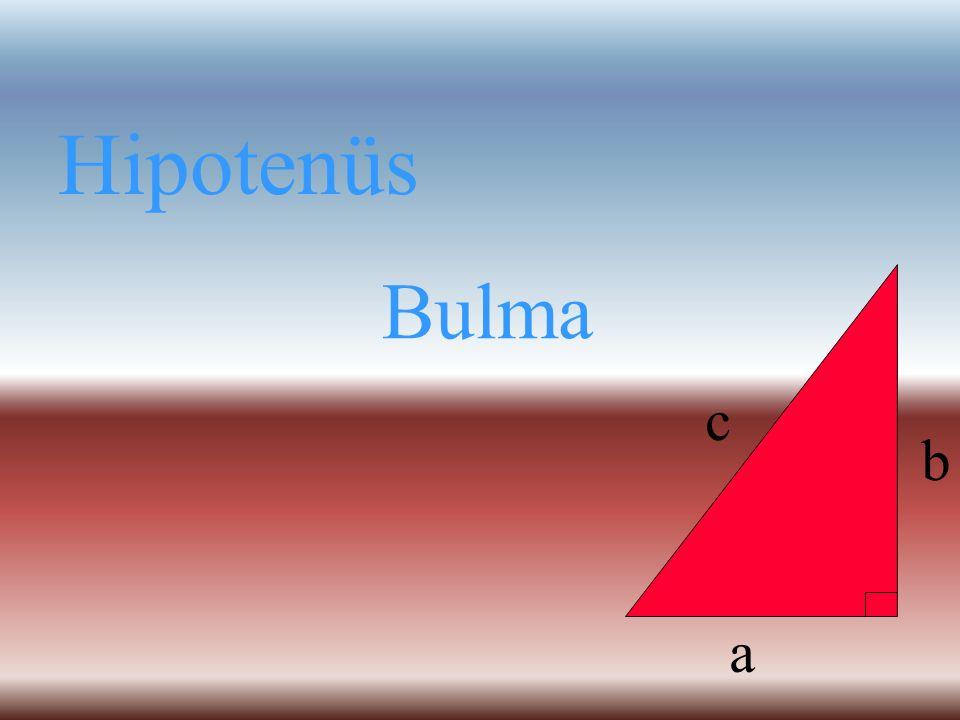 Hipotenüs Dik kenar