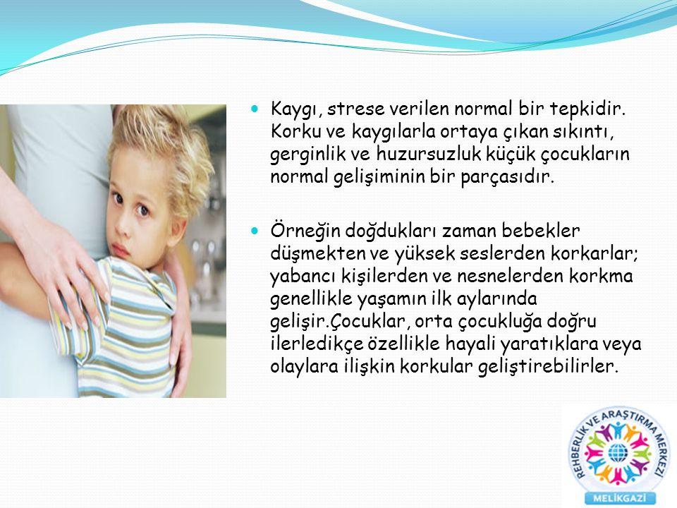 Kaygı, strese verilen normal bir tepkidir.