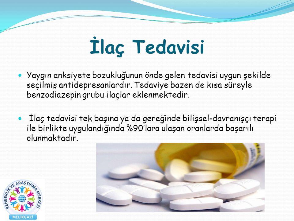 İlaç Tedavisi Yaygın anksiyete bozukluğunun önde gelen tedavisi uygun şekilde seçilmiş antidepresanlardır.