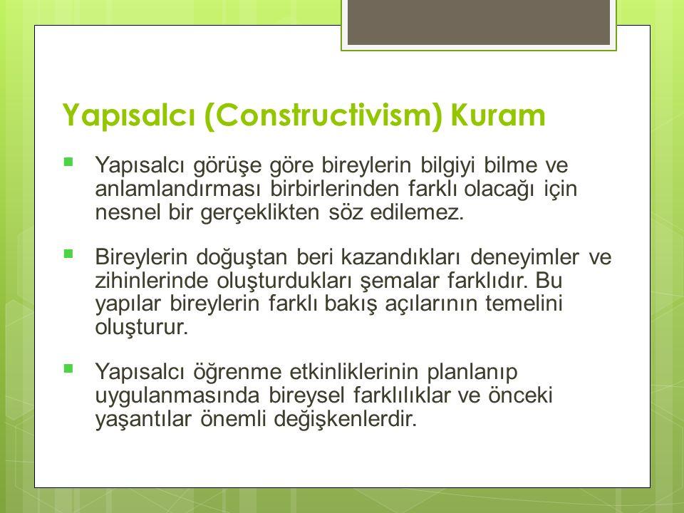Kaynaklar  Çepni, S.& Akyıldız, S. (2010).