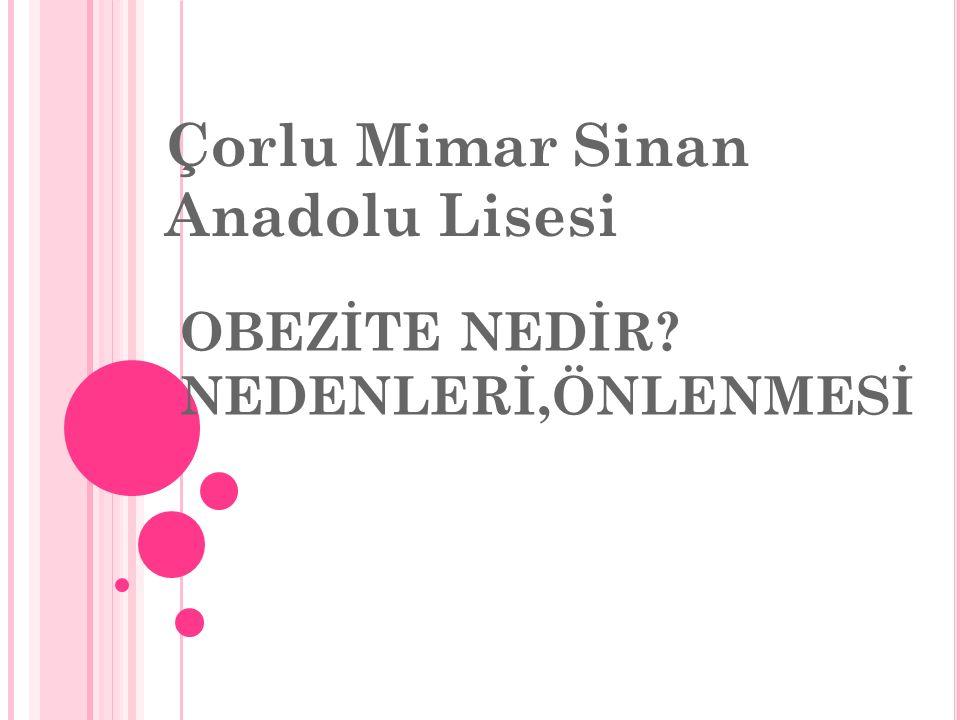 OBEZİTE NEDİR? NEDENLERİ,ÖNLENMESİ Çorlu Mimar Sinan Anadolu Lisesi