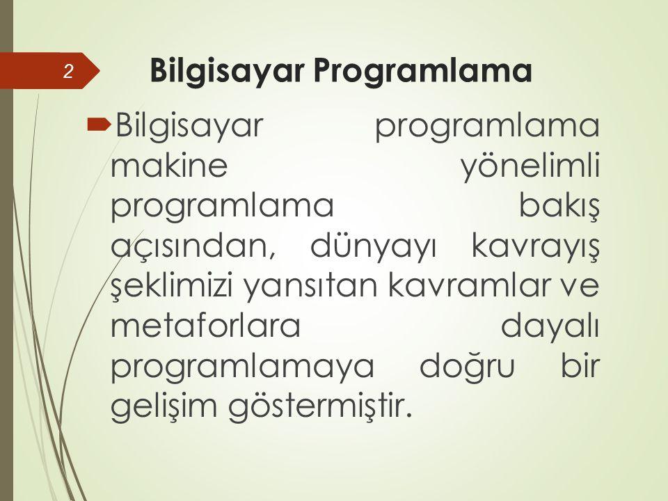 SOYUTLAMA - 2  Geleneksel olarak, bir programlama dili soyutlama yapmaya izin verdiği ölçüde yüksek-düzeyli (high- level) kabul edilir.