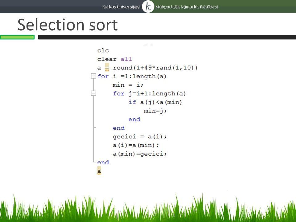 Bubble sort 23 11 9 44 10 sayılarından oluşan bir kümemiz olsun.