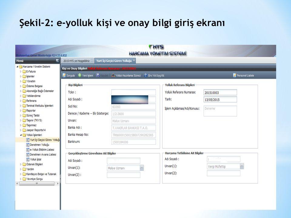 Şekil-3: Ek-1 Harcama Talimatı veri giriş ekranı