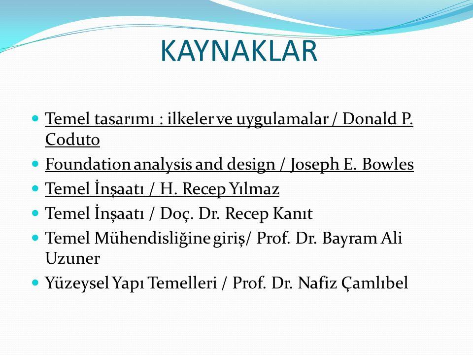 KAYNAKLAR Temel tasarımı : ilkeler ve uygulamalar / Donald P.