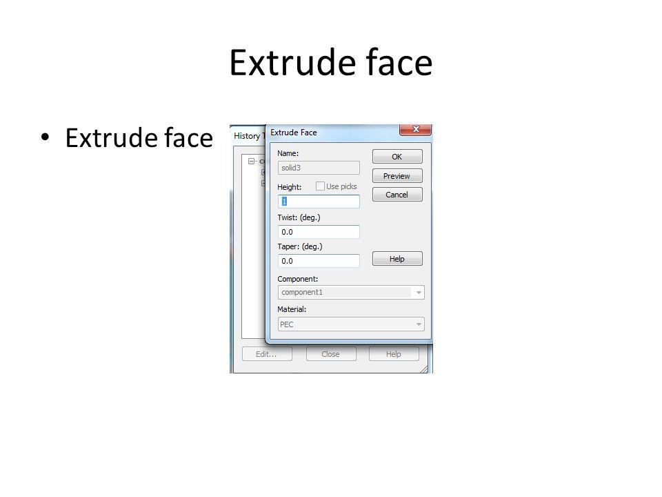 Extrude face