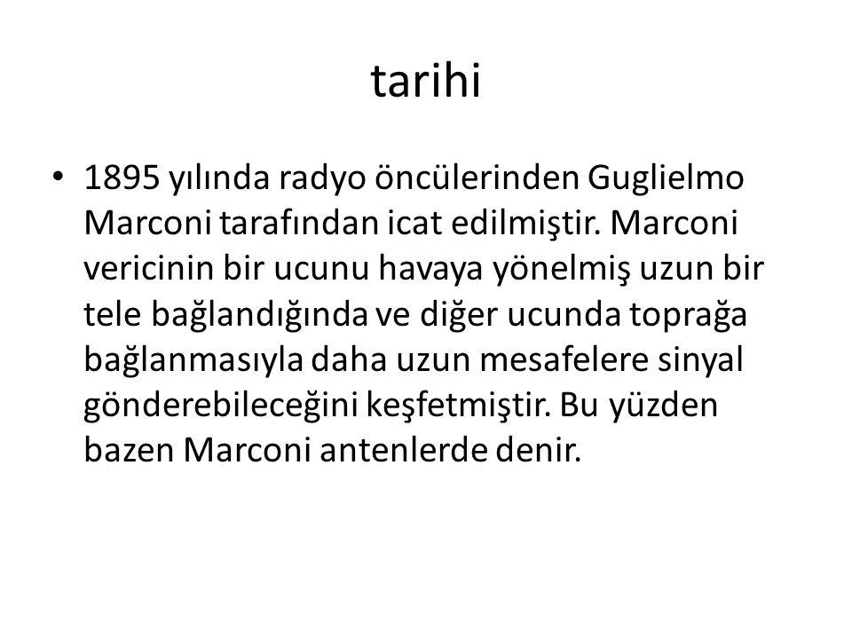 tarihi 1895 yılında radyo öncülerinden Guglielmo Marconi tarafından icat edilmiştir.