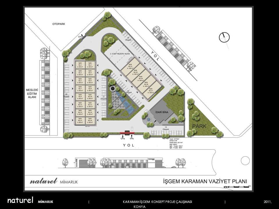 İDARİ BİNA ÜST KAT PLANI 253 m² naturel MİMARLIK | KARAMAN İŞGEM KONSEPT PROJE ÇALIŞMASI | 2011, KONYA