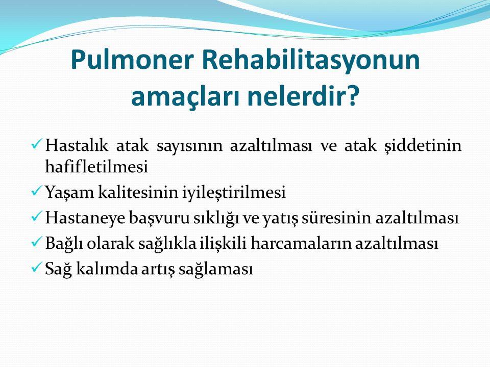 Pulmoner Rehabilitasyon kimlere uygulanır.