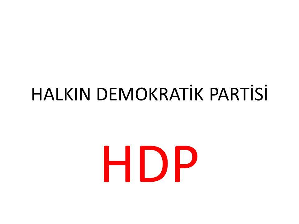 HALKIN DEMOKRATİK PARTİSİ HDP