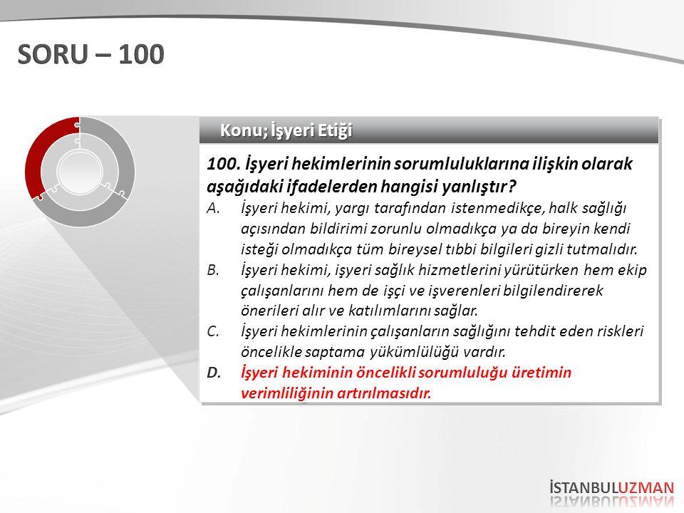 Konu; İşyeri Etiği 100.