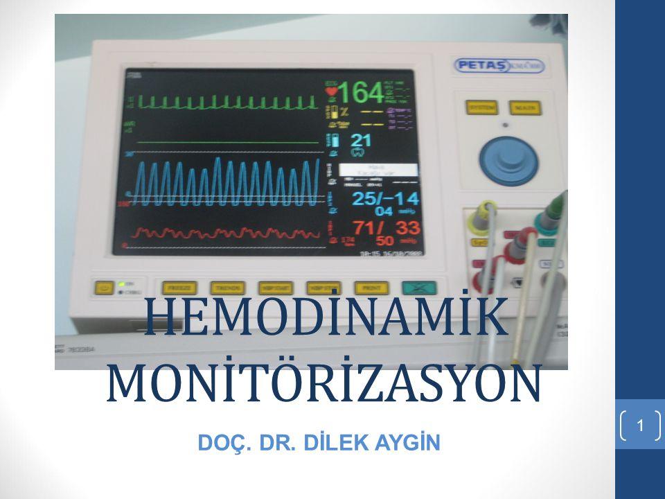 HEMODİNAMİK MONİTÖRİZASYON 1 DOÇ. DR. DİLEK AYGİN