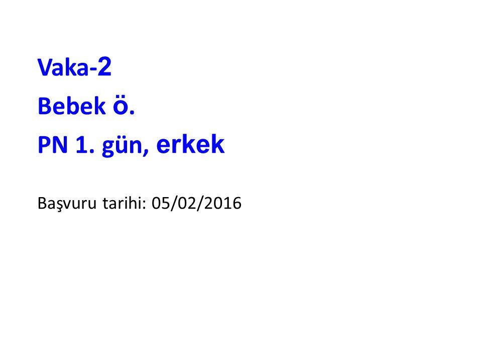 Vaka- 2 Bebek ö. PN 1. gün, erkek Başvuru tarihi: 05/02/2016