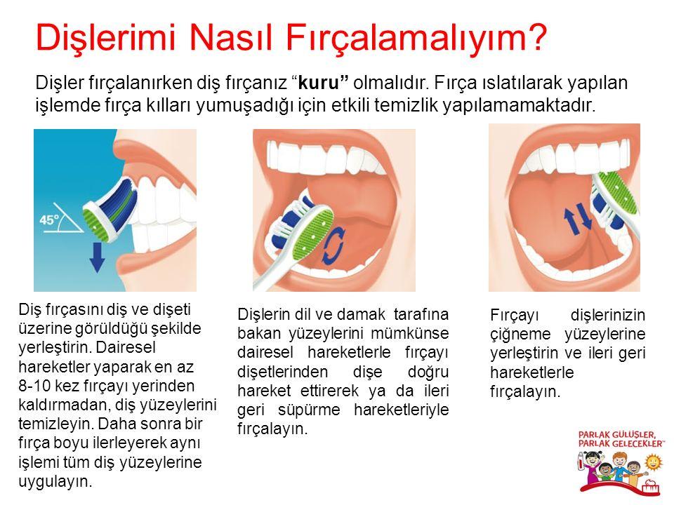 Dişler fırçalanırken diş fırçanız kuru olmalıdır.