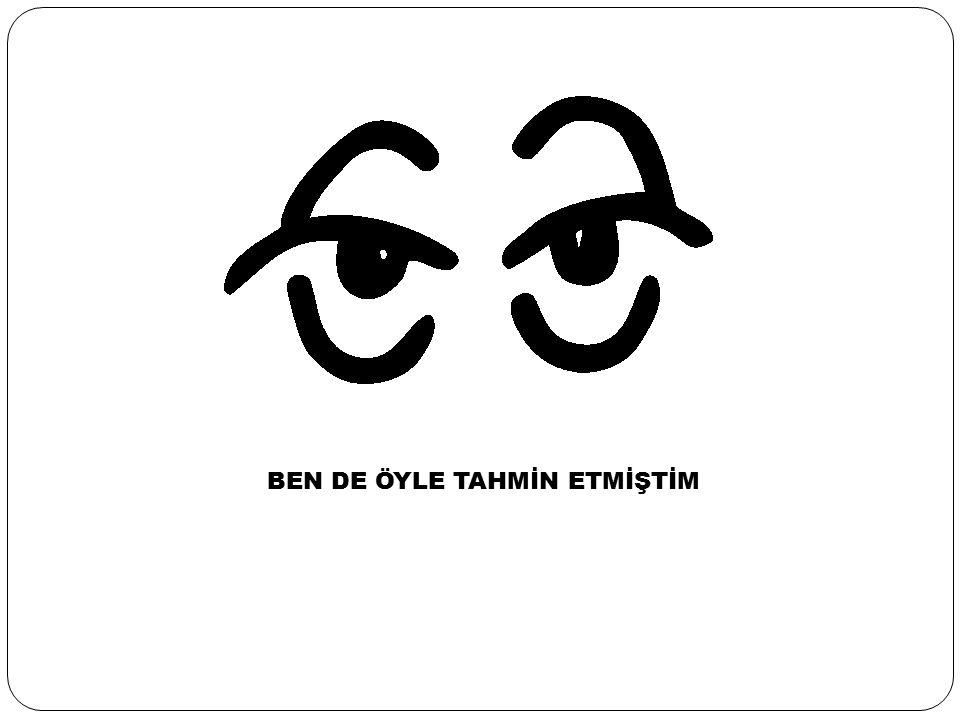 BEN DE ÖYLE TAHMİN ETMİŞTİM