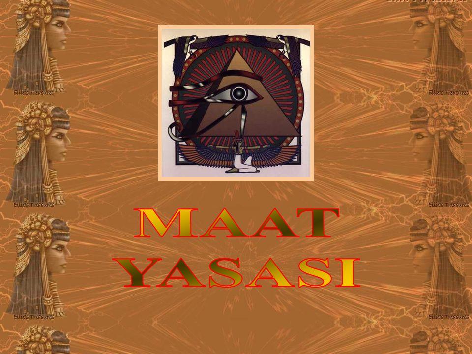 Eski Mısırlıların bir inanç sistemi ve Tanrıları olan Maat dan yola çıkarak aklıma gelen düşünceleri sizlerle paylaşmaya çalıştım.
