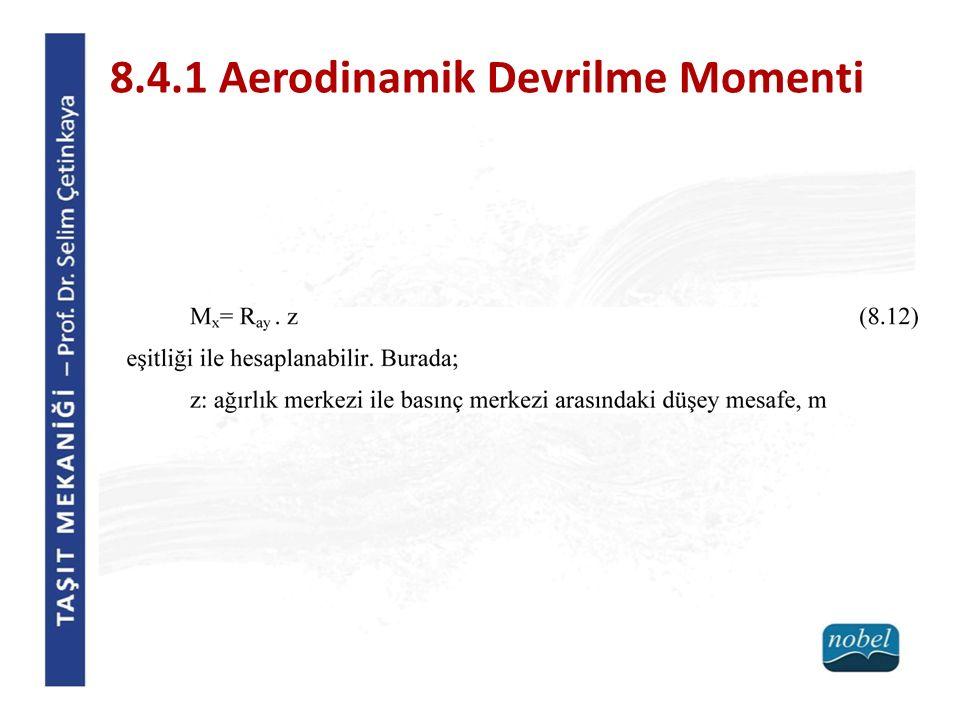 8.4.1 Aerodinamik Devrilme Momenti