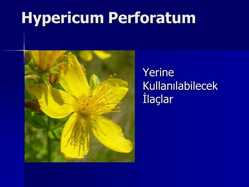 Hypericum Perforatum Yerine Kullanılabilecek İlaçlar
