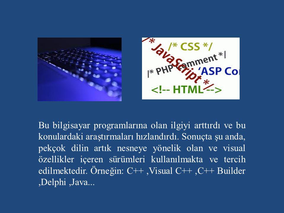 Bu bilgisayar programlarına olan ilgiyi arttırdı ve bu konulardaki araştırmaları hızlandırdı.