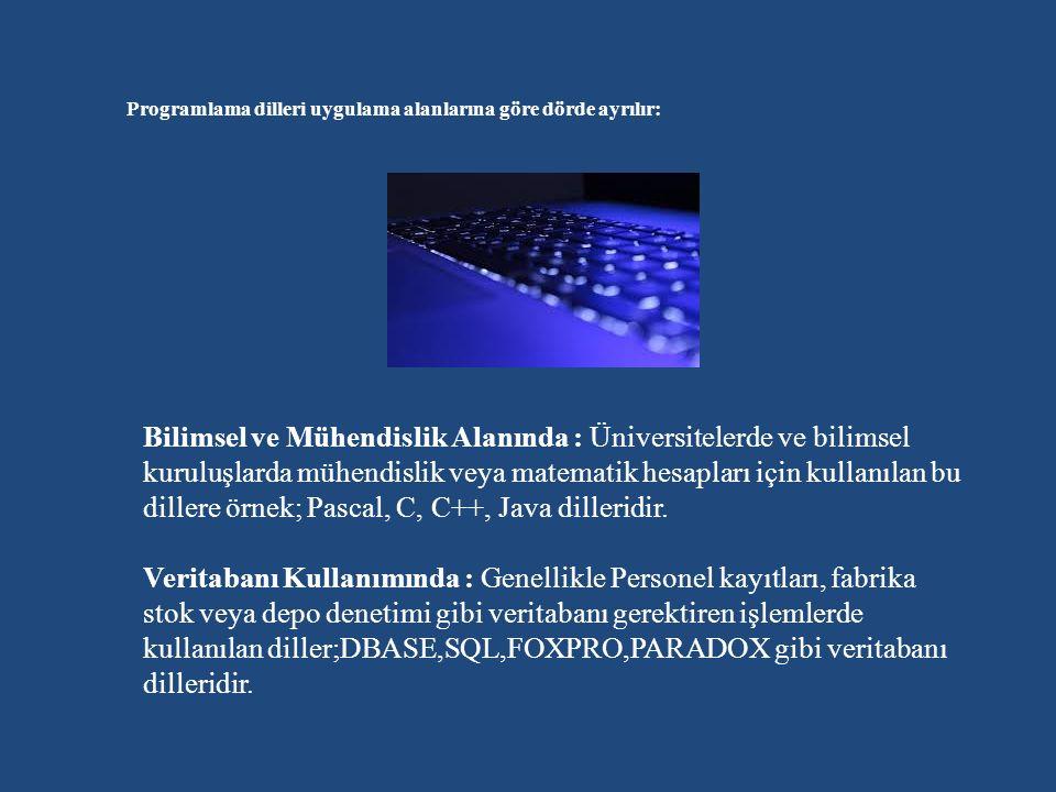 PROGRAMLAMA DİLLERİNİN GELİŞİMİ Birinci Nesil Programlama Dilleri – Makine Dilleri Birinci nesil programlama dilleri ilk bilgisayarlarla birlikte ortaya çıkan programlama ihtiyacını karşılakamk üzere geliştirilen ve tamamen geliştirildiği makinenin (machine) özelliklerine odaklı (machine-level) makine seviyesi dillerdi.