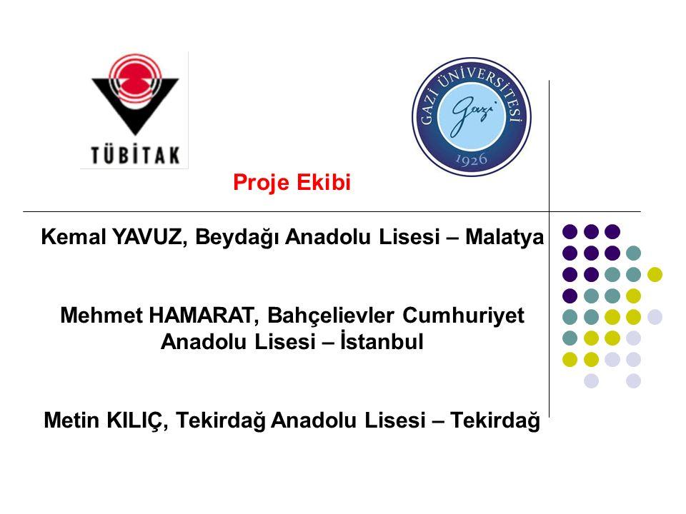 Proje Danışmanı Yrd.Doç. Dr. İ. Gökhan DENİZ Akdeniz Üniversitesi Eğitim Fakültesi Biyoloji Eğt.