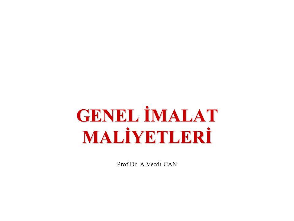 GENEL İMALAT MALİYETLERİ Prof.Dr. A.Vecdi CAN