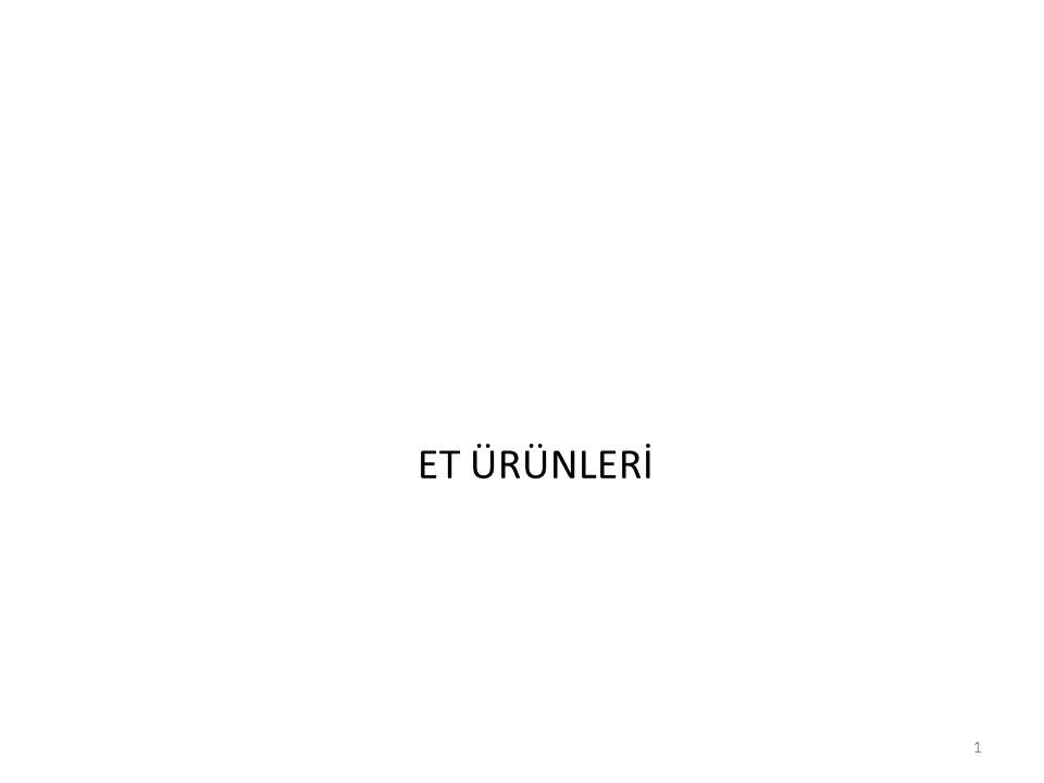ET ÜRÜNLERİ 1
