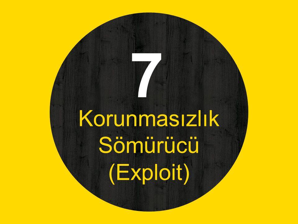 7 Korunmasızlık Sömürücü (Exploit)