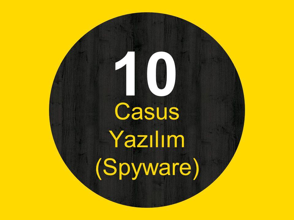 10 Casus Yazılım (Spyware)