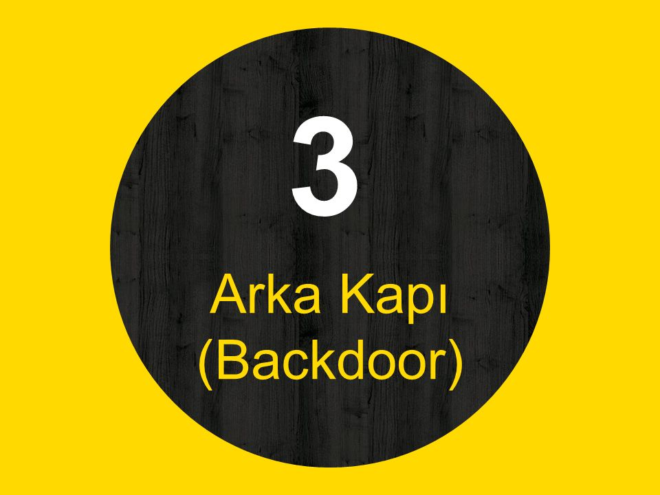 3 Arka Kapı (Backdoor)
