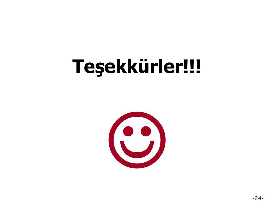 -23- Kaynakça Bilen, M. (1999). Plandan uygulamaya öğretim. Ankara: Anı Yayıncılık. Demirel, Ö. (2009). Kuramdan uygulamaya eğitimde program geliştirm