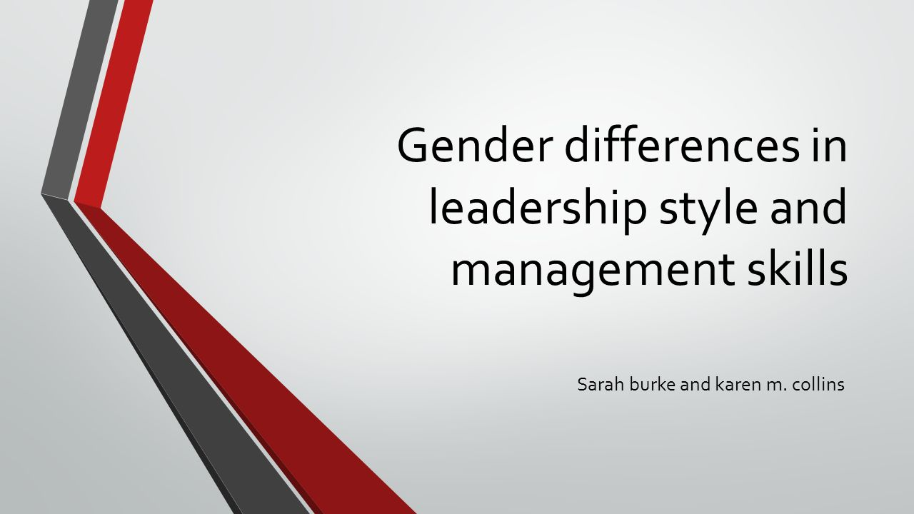 introduction An ongoing debate has appeared in the management literature over the past two decades as to whether female and male managers use different leadership styles.