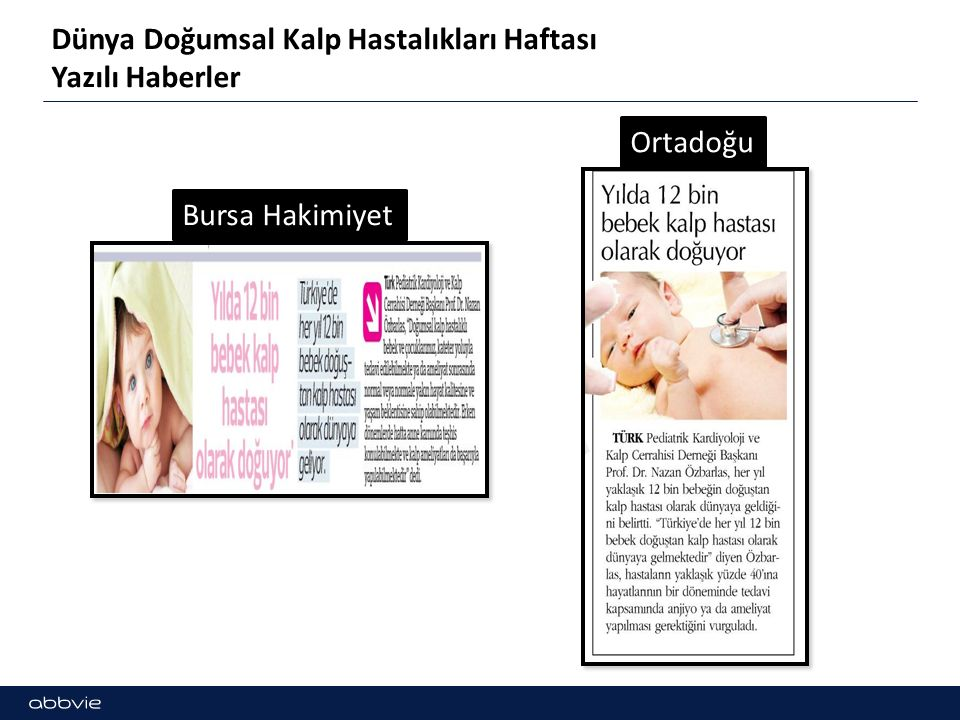 Dünya Doğumsal Kalp Hastalıkları Haftası Yazılı Haberler Bursa Hakimiyet Ortadoğu