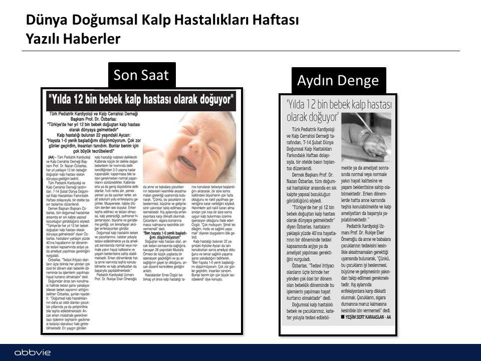 Dünya Doğumsal Kalp Hastalıkları Haftası Yazılı Haberler Son Saat Aydın Denge