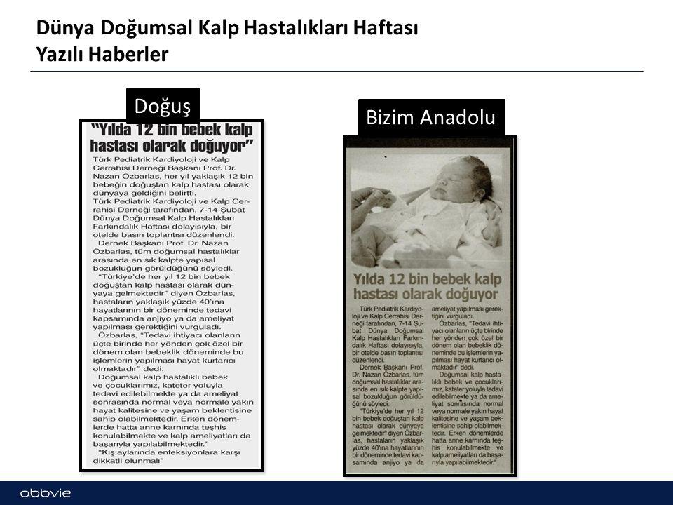Dünya Doğumsal Kalp Hastalıkları Haftası Yazılı Haberler Doğuş Bizim Anadolu