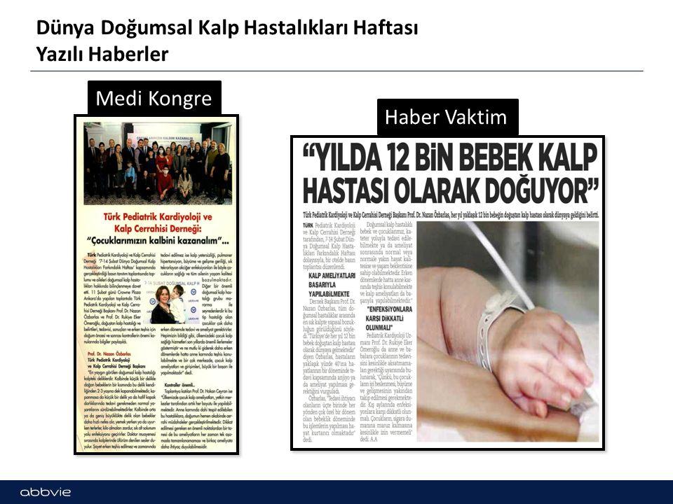 Dünya Doğumsal Kalp Hastalıkları Haftası Yazılı Haberler Hedef Halk Yeni Meram